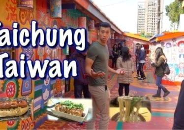 Exploring Taichung Taiwan Rainbow Village Fenjia Night Market
