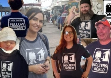 Thank You Fellow Travelers Wearing Wolters World Shirts