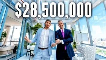 NYC Apartment Tour 28.5 MILLION LUXURY APARTMENT