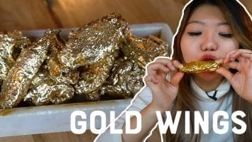 I Ate 24K GOLD CHICKEN WINGS Viral Foods In New York