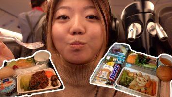 China Airlines PREMIUM ECONOMY FOOD New York To Taipei 16 Hour Flight