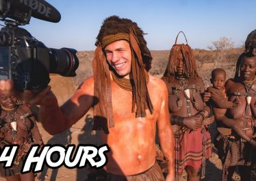 Living 24 Hours With A Desert African Tribe Himba Village Namibia
