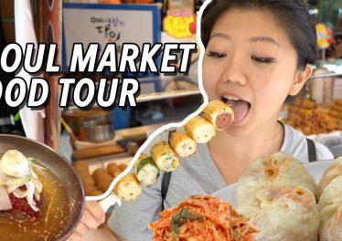 KOREAN STREET FOOD LARGEST Traditional Market Food Tour In Seoul South Korea Namdaemun Market