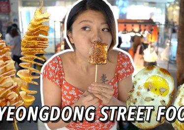 KOREAN STREET FOOD In Myeongdong Seoul Night Market Street Food Tour
